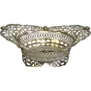 Sterling Silver 1901 Hamilton and Co. Birmingham England Elaborate footed BOWL