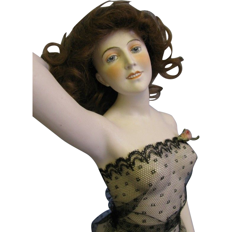 Galluba and Hofmann HUGE 17 inch Early German Bisque Bathing Beauty Wigged, Gorgeous