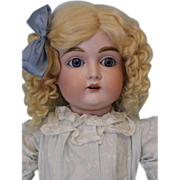 22 inch Antique Doll Kestner number 167 Beautiful Blue Sleep Eyes German Bisque
