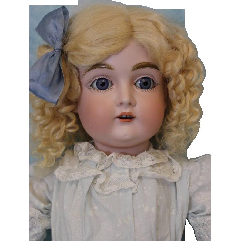 22 inch Antique Doll Kestner number 167 Beautiful Blue Sleep Eyes German Bisque