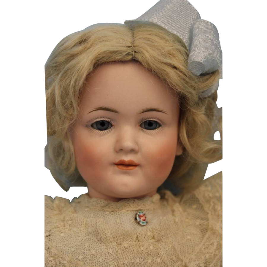 16 inch Antique Kley and Hahn German Bisque Character, 549, Very Pretty Girl doll 1900