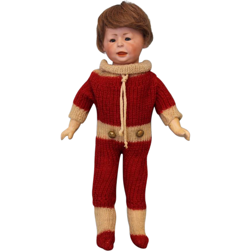 Antique 13 inch German Bisque Character 1428 Freddie Boy by Simon Halbig Doll