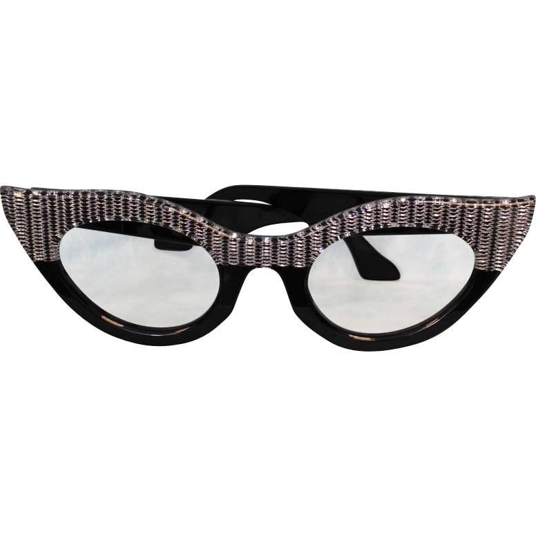 17.5 inch Wide Salesmen's Sample 1940's Ophthalmologist Lucite Glasses Advertising
