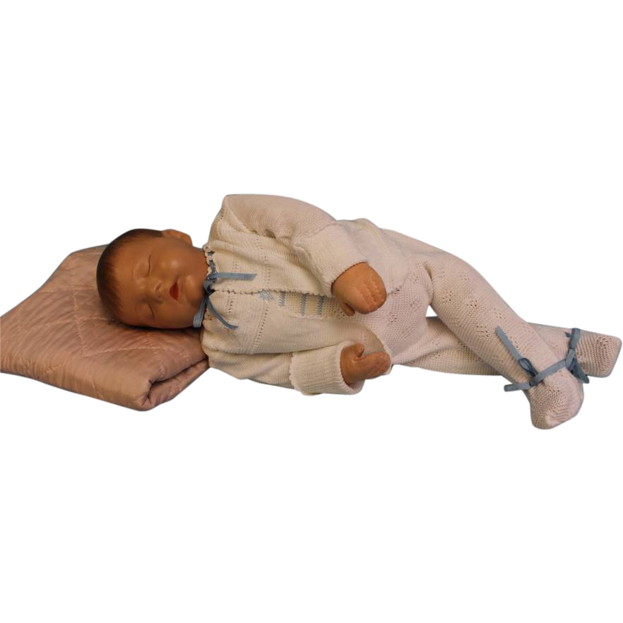 19 inch Sleeping Traumerchen Kathe Kruse Sand Baby Doll c.1940s Feels Real.