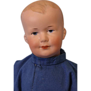 c.1910 Sweet 10 inch Antique Armand Marseille A 500 M Character Bisque Baby Doll