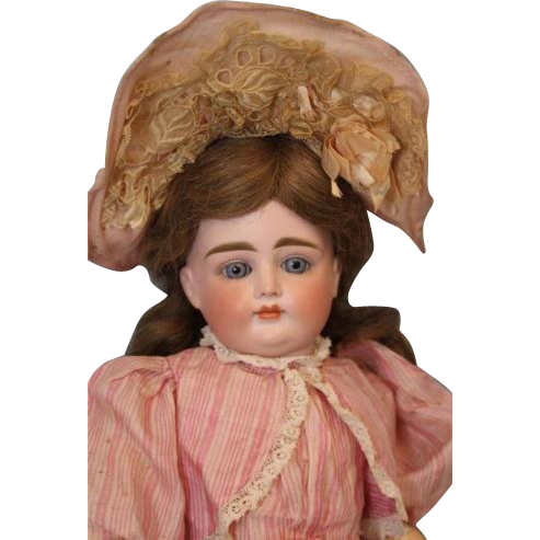 Antique German Bisque 17 inch All ORIGINAL Closed Mouth Very Pouty Kestner Doll