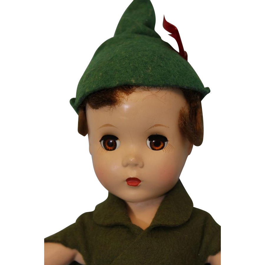 14 inch 1953 Madame Alexander Peter Pan from Walt Disney Hard Plastic All Original