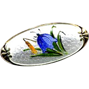 Denmark Sterling & Enamel Bluebell Pin