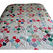 Vintage Multi-Colored 1950's Patchwork Quilt