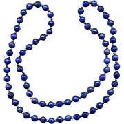 "28"" Strand of Lapis Lazuli and 14K Beads"