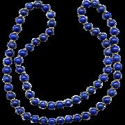 "28"" Strand of Lapis Lazuli and 14K Beads"