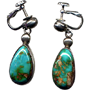 Sterling Silver & Turquoise Drop Earrings