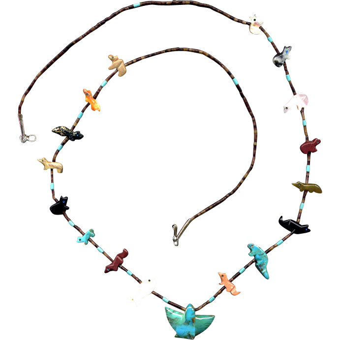 Native American Fetish Necklace 12