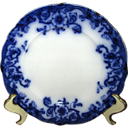 "English Flow Blue ""Ventnor"" 8"" Salad Plate"