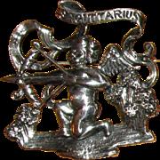 Cini Sterling Sagittarius Zodiac Pin