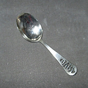 "Vintage Sterling Silver ""Baby"" Spoon"