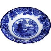 "English Flow Blue Adams ""Fairy Villas"" Serving Bowl"