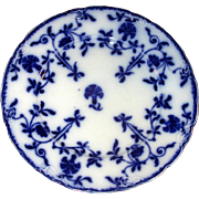 "English Flow Blue 9"" Meakin Colonial Plate"
