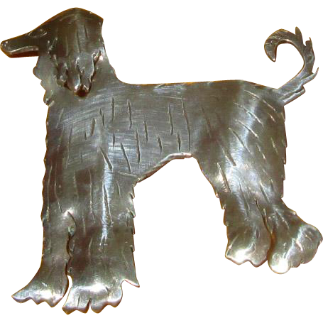 Sterling Silver Afghan Hound Pin