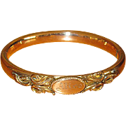 "Fancy Victorian Gold-Filled ""Alice"" Bangle Bracelet"