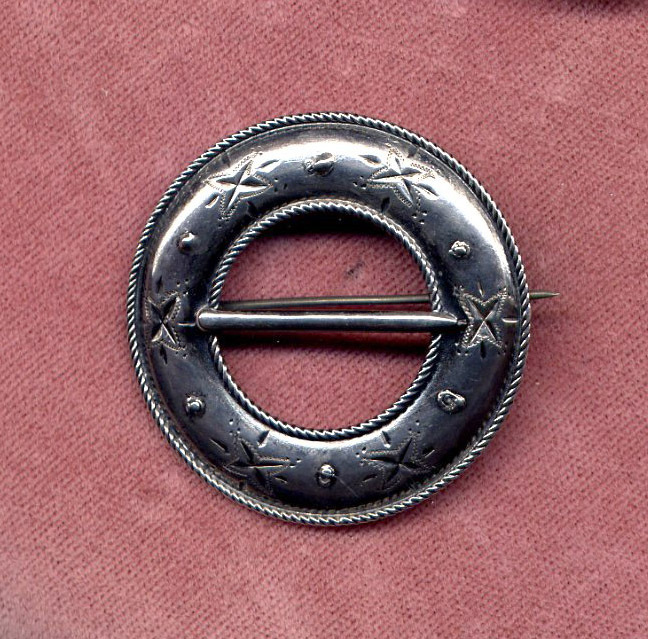 David Andersen of Norway 830 Silver Engraved Pin