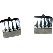 Sterling Silver Modernist Cufflinks by Speidel