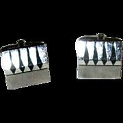 Sterling Silver Modernist Cufflinks by Speidel