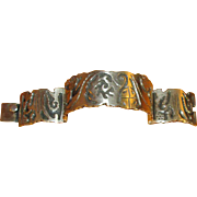 Heavy Mexican Sterling Link Bracelet