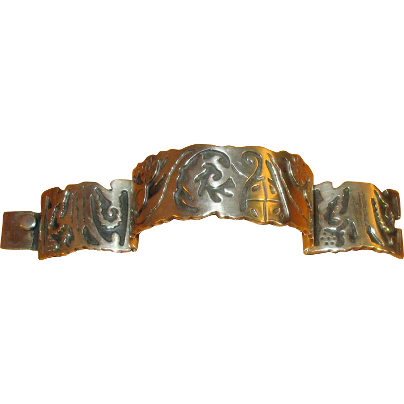 Heavy Mexican Sterling Link Bracelet