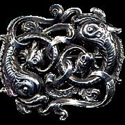 Cini Sterling Silver Zodiac Pisces Fish Pin