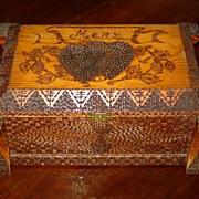 Folk Art Box with Hearts for Mary