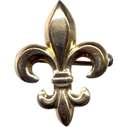 Gold-Filled Fleur-de-Lis Watch or Fob Pin