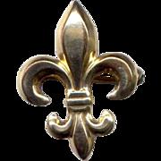 Gold-Filled Fleur-de-Lis Watch or Fob Pin