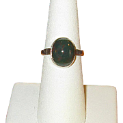 Ladies' Vintage Sterling Silver & Bloodstone Ring