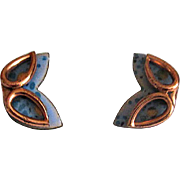 Matisse Copper & Enamel Mask Clip Earrings
