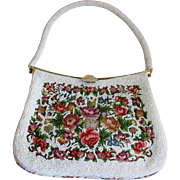 Beaded Purse with Needlepoint Decoration