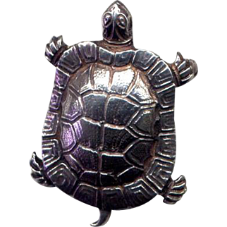 Sterling Silver Turtle Pin from Cini
