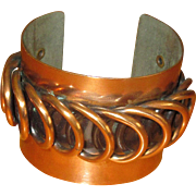 Rebajes Burnished Wide Copper Cuff Bracelet