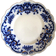 "English Flow Blue W. H. Grindley ""Portman"" 9"" Plate"