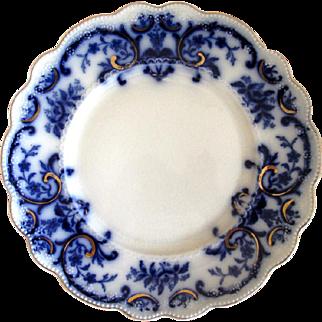 "English Flow Blue W. H. Grindley ""Portman"" 9"" Plate"