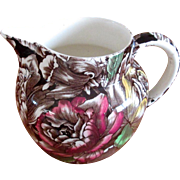 "Small English Pottery Chintz ""Bermuda"" Pitcher"