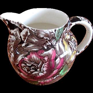 """Small English Pottery Chintz """"Bermuda"""" Pitcher"""