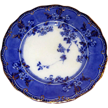"English Flow Blue 9"" Lugano Plate"