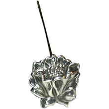Vintage Hat-Pin with Sterling Silver Floral Top