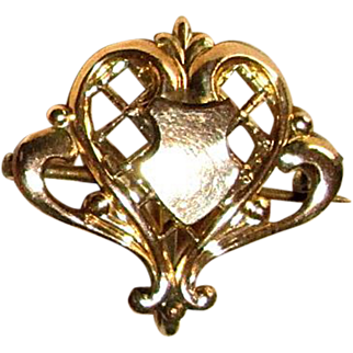 Gold Filled Fob Pin with Shield