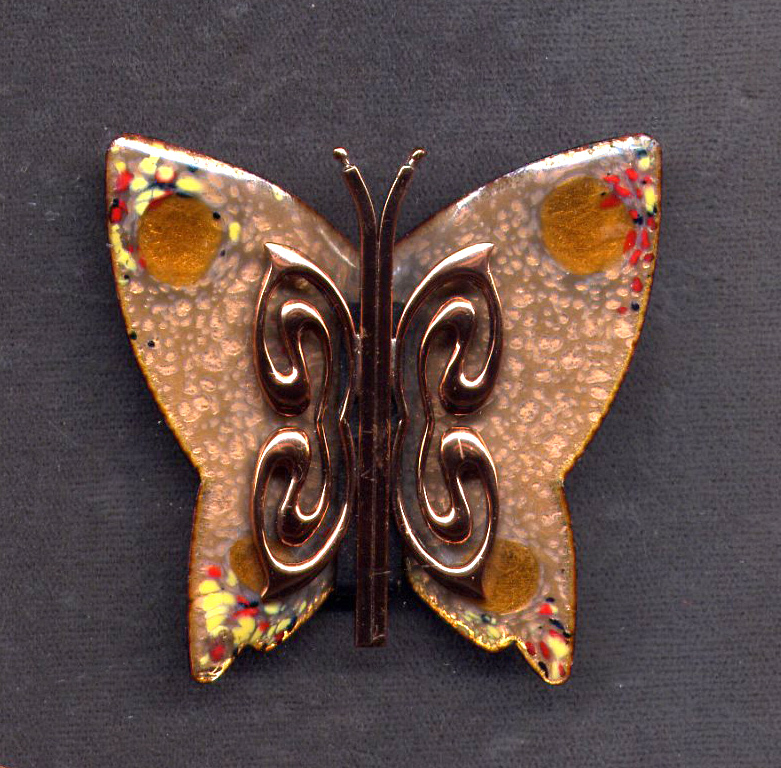 Matisse Copper Enamel Butterfly Pin