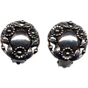 Denmark Sterling N. E. From Clip Earrings