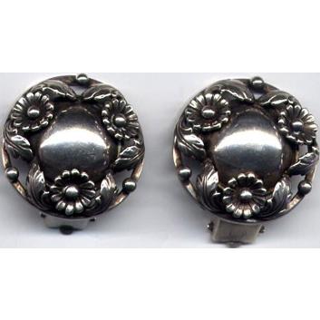 Denmark Sterling N. E. From Clip Earrings