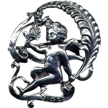 Cini Sterling Zodiac-Sign Virgo Pin