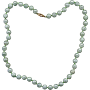 "18"" Strand of Jade Beads with 14K Clasp"